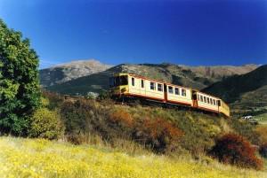 Viajar en el Tren Amarillo, Francia Pirineos-Orientales