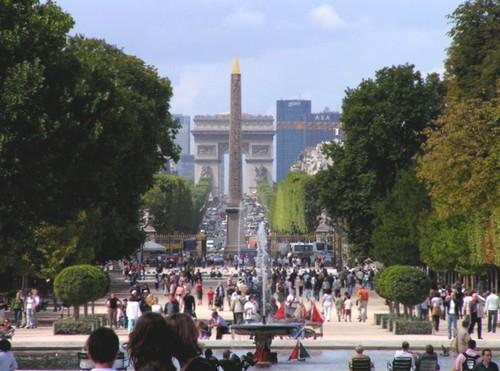 Avenida de los campos eliseos francia for Jardines eliseos