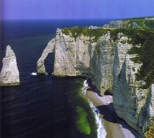 acantilado normandia francia